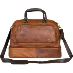 MAHI Leather - Large Leather Raleigh Holdall Bag With Under Compartment In Vintage Brown With Mahogany Trim found on Bargain Bro UK from Wolf and Badger