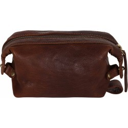 N'Damus London - Small Sloane Cognac Leather Toiletry Case found on MODAPINS from Wolf & Badger US for USD $91.00