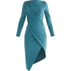 PAISIE - Sydney Draped Dress In Turquoise found on MODAPINS from Wolf & Badger US for USD $150.00