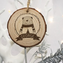 Personalised Woodland Owl Christmas Tree Decoration