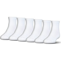 Under Armour Men's Charged Cotton Quarter Socks, 6 Pack