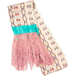 Jessica Russell Flint - Silk Tassel Scarf - Prairie Check found on Bargain Bro UK from Wolf and Badger
