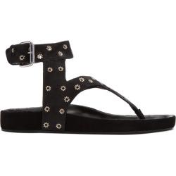Isabel Marant Black Suede Elwina Chic Eyelet Sandals