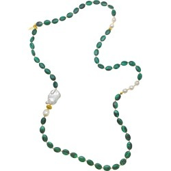 Farra - Malachite With Edison & Baroque Multi-Way Necklace found on Bargain Bro Philippines from Wolf & Badger US for $337.00