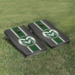 Colorado State Rams Cornhole Game Set Onyx Stained Stripe