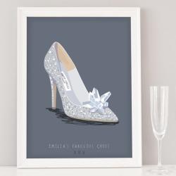 Custom Wedding Shoe Illustration Print found on Bargain Bro India from hardtofind.com.au for $238.36