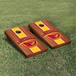 Iowa State Cyclones Cornhole Game Set Rosewood Stained Stripe