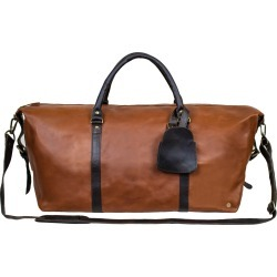 MAHI Leather - Leather Long Armada Duffle Large Weekend/Overnight Holdall Bag In Vintage Brown With Mahogany Detail found on Bargain Bro UK from Wolf and Badger