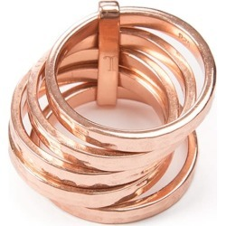 Jewel Tree London - 5 Stack Ring Rose Gold found on Bargain Bro UK from Wolf and Badger
