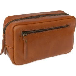 VIDA VIDA - Travel Tan Leather Wash Bag found on Bargain Bro UK from Wolf and Badger
