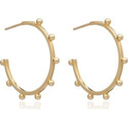 Rachel Jackson London - Large Punk Hoop Earrings - Gold found on Bargain Bro from Wolf & Badger US for USD $116.28
