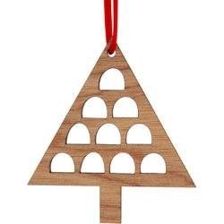 Wooden Christmas tree decoration found on Bargain Bro India from hardtofind.com.au for $9.30