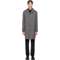 Z Zegna Grey Wool TechMerino Wash and Go Coat