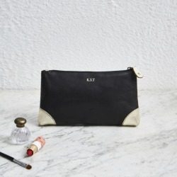 Personalised Handmade Leather Make Up Bag found on Bargain Bro Philippines from hardtofind.com.au for $71.56