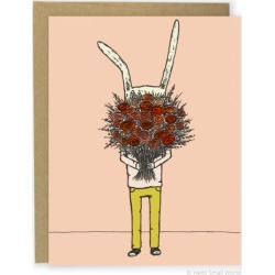 Flower Rabbit Greeting Card found on Bargain Bro from hardtofind.com.au for USD $5.86