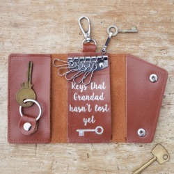 Personalised Leather Key Holder