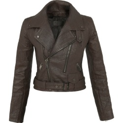 ALTIIR - Women's Neo-Classic Biker Jacket In Brown found on Bargain Bro Philippines from Wolf & Badger US for $551.00