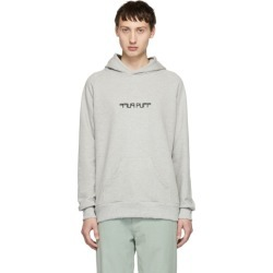 Baja East Grey Puff Puff Pass Hoodie found on MODAPINS from SSENSE for USD $275.00