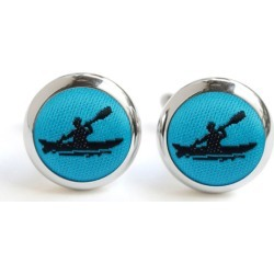 Ocean Blue and Black Kayak Cufflinks found on Bargain Bro India from hardtofind.com.au for $39.18