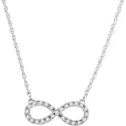 Cosanuova - Diamond Infinity Necklace in 10k White Gold