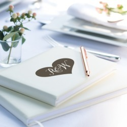 Personalised Heart Initials Guest Book found on Bargain Bro India from hardtofind.com.au for $113.76