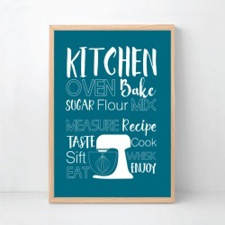 Kitchen Wall Art Print - Custom Colour found on Bargain Bro Philippines from hardtofind.com.au for $33.75