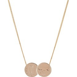 Katie Mullally - Double Irish 5P Coin Necklace In Rose Gold Plate found on MODAPINS from Wolf and Badger for USD $236.45