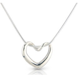 Silver Twisted Heart Necklace found on Bargain Bro India from hardtofind.com.au for $163.45
