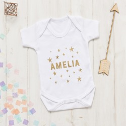 Personalised New Baby Scandi Stars Onesie found on Bargain Bro India from hardtofind.com.au for $27.88
