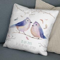 Love Birds Personalised Cushion
