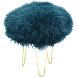 Nina - Sheepskin Footstool Teal found on Bargain Bro UK from Clippings