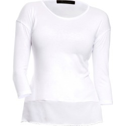 Philosofée by Glaucia Stanganelli - Off White Back Pleat Sustainable Tencel Modal Knit T-Shirt found on Bargain Bro Philippines from Wolf & Badger US for $145.00