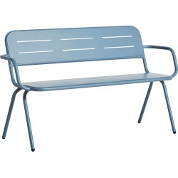 Ray Bench with Armrests Blue
