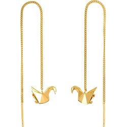 Origami Jewellery - Swan Gold Chain Earrings found on Bargain Bro UK from Wolf and Badger