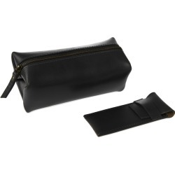 VIDA VIDA - Classic Black Leather Shaving Bag With Razor Cover found on Bargain Bro UK from Wolf and Badger