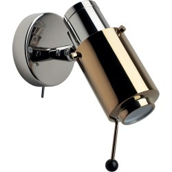 Biny Spot LED Wall Light Polished Nickel Body, Gold Anodized Lens, With, With found on Bargain Bro UK from Clippings