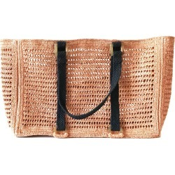 MARAINA LONDON - Agnes Light Pink Large Raffia Beach Bag found on MODAPINS from Wolf & Badger US for USD $250.00