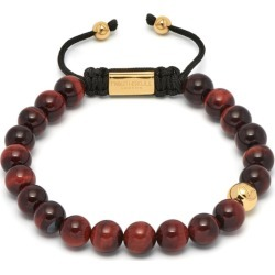 Northskull - Red Tiger Eye Asymmetrical Bracelet / Gold found on MODAPINS from Wolf & Badger US for USD $217.00