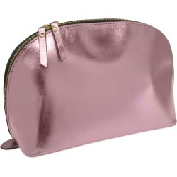 VIDA VIDA - Lunar Metallic Pink Leather Wash Bag found on Bargain Bro UK from Wolf and Badger