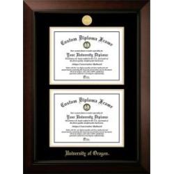 University of Oregon Legacy Double Diploma Frame