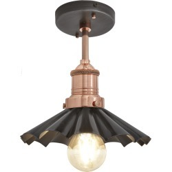 Brooklyn Umbrella Flush Mount Light Brooklyn Umbrella Flush Mount - 8 Inch - Pewter - Copper Holder found on Bargain Bro UK from Clippings
