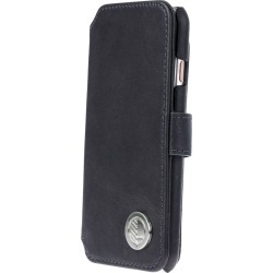 Drew Lennox - iPhone Luxury English Leather Phone Wallet with 3 Card Slots in Charcoal Black found on Bargain Bro India from Wolf & Badger US for $67.00