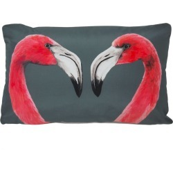 Katie & the Wolf - Flamingos Cushion found on Bargain Bro UK from Wolf and Badger