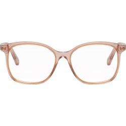 Pink Transparent Acetate Glasses