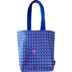 Blue paper house lux tote bag