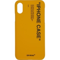 Off-White Yellow Quote iPhone X Case