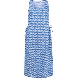 Pink House Mustique - Linen Sun Dress Guava - Blue found on MODAPINS from Wolf & Badger US for USD $272.00