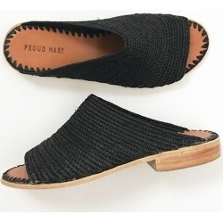 Proud Mary Footwear - Raffia Open-Toe Slides (Black) found on Bargain Bro UK from Wolf and Badger