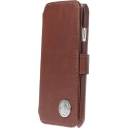 Drew Lennox - iPhone Luxury English Leather Phone Wallet with 3 Card Slots in Rich Brown found on Bargain Bro Philippines from Wolf & Badger US for $82.00