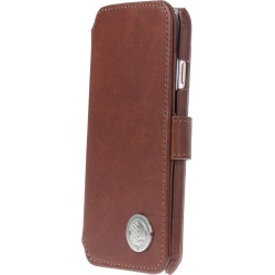 Drew Lennox - iPhone Luxury English Leather Phone Wallet with 3 Card Slots in Rich Brown found on Bargain Bro UK from Wolf and Badger